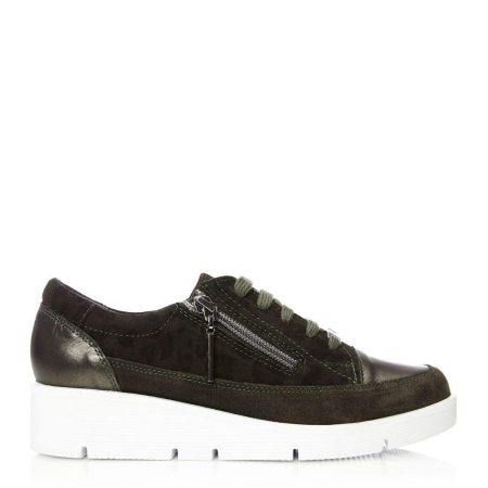 Casual Shoes And Trainers | Moda in Pelle Womens Beena Khaki – Leopard Leather Khaki