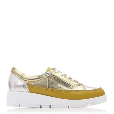 Casual Shoes And Trainers   Moda in Pelle Womens Beena Yellow Leather Yellow