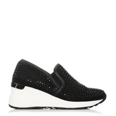 Casual Shoes And Trainers   Moda in Pelle Womens Bellar Black Textile Black
