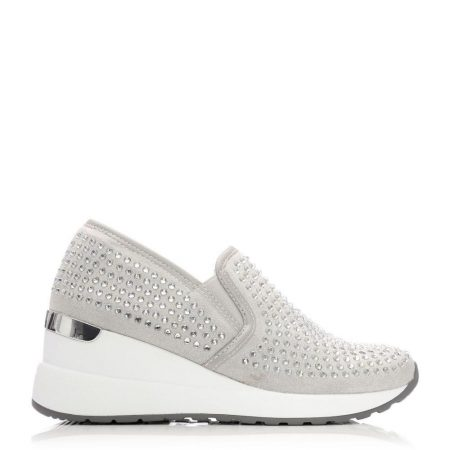 Casual Shoes And Trainers   Moda in Pelle Womens Bellar Silver Textile Silver