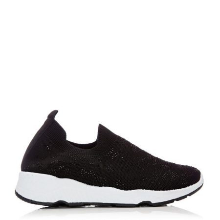 Casual Shoes And Trainers   Moda in Pelle Womens Bereene Black Fabric Black