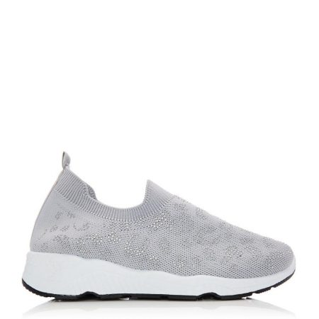Casual Shoes And Trainers   Moda in Pelle Womens Bereene Grey Fabric Grey