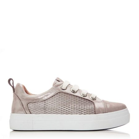 Casual Shoes And Trainers | Moda in Pelle Womens Berrino Rose Gold Leather Rose