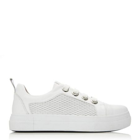 Casual Shoes And Trainers   Moda in Pelle Womens Berrino White Leather White