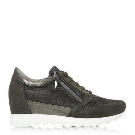 Casual Shoes And Trainers | Moda in Pelle Womens Bethy Khaki Leather Khaki