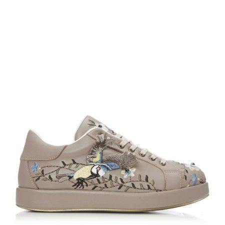 Casual Shoes And Trainers | Moda in Pelle Womens Birdi Taupe Leather Taupe