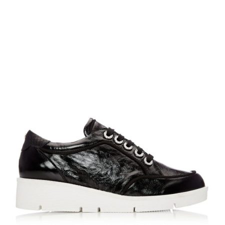 Casual Shoes And Trainers   Moda in Pelle Womens Birrin Black Patent Leather Black