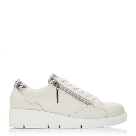 Casual Shoes And Trainers | Moda in Pelle Womens Bistenno Off White Leather Off