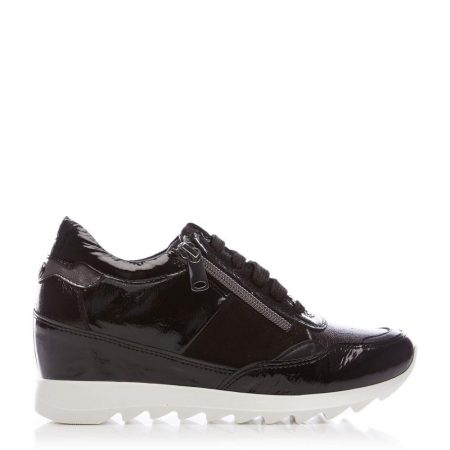 Casual Shoes And Trainers   Moda in Pelle Womens Blossome Black Leather Black