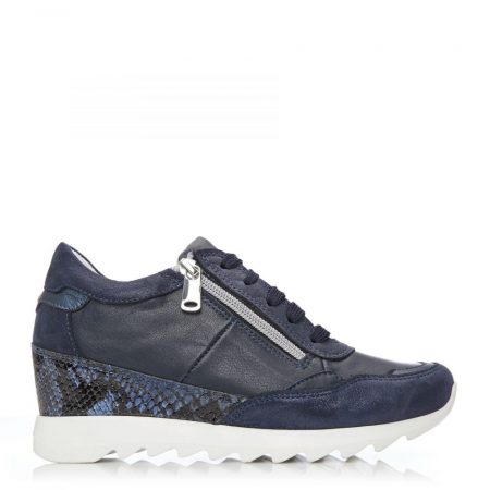 Casual Shoes And Trainers   Moda in Pelle Womens Blossome Navy – Snake Leather Navy
