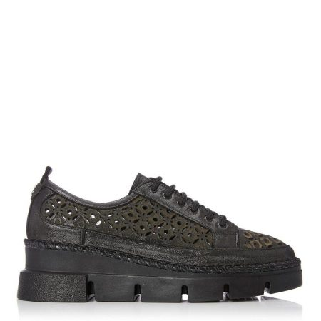 Casual Shoes And Trainers | Moda in Pelle Womens Bodena Pewter Leather Pewter