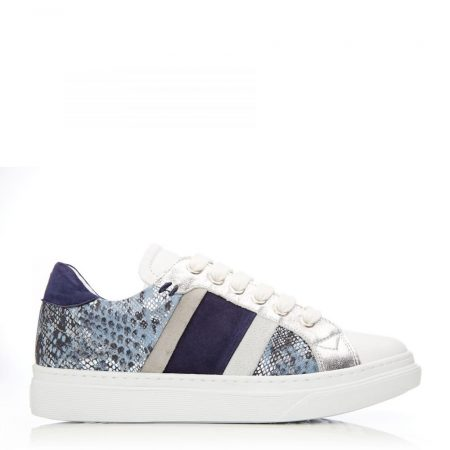 Casual Shoes And Trainers   Moda in Pelle Womens Bowe Blue – Snake Leather Blue