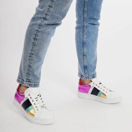 Casual Shoes And Trainers   Moda in Pelle Womens Bowe Rainbow Leather Rainbow