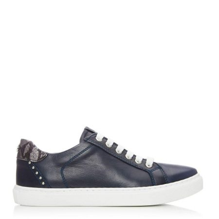 Casual Shoes And Trainers   Moda in Pelle Womens Bradd Navy Leather Navy