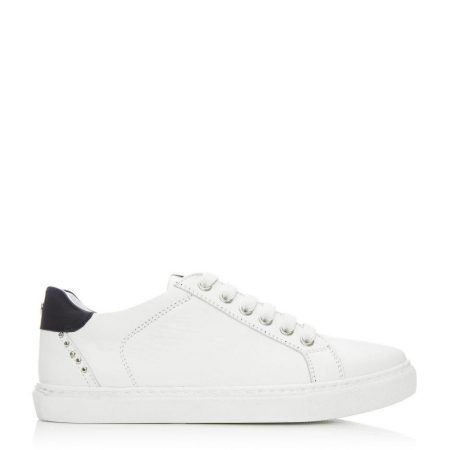 Casual Shoes And Trainers   Moda in Pelle Womens Bradd White Leather White