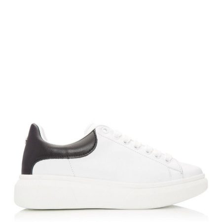 Casual Shoes And Trainers   Moda in Pelle Womens Bradie White Leather White