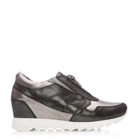 Casual Shoes And Trainers | Moda in Pelle Womens Brayden Pewter Leather Pewter