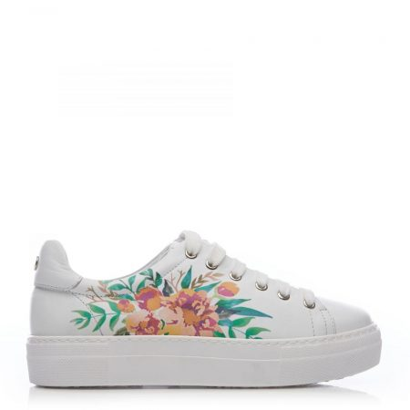 Casual Shoes And Trainers | Moda in Pelle Womens Bretty White Pink Leather White
