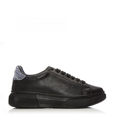 Casual Shoes And Trainers | Moda in Pelle Womens Bridgette Jet Black Leather Jet