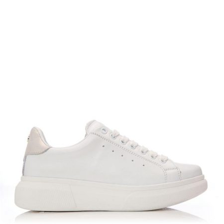 Casual Shoes And Trainers | Moda in Pelle Womens Bridgette White Leather White