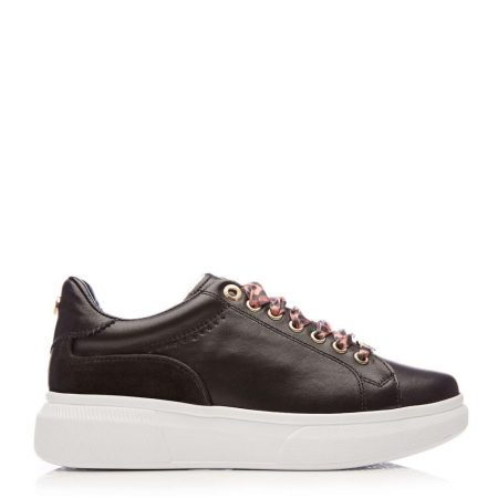 Casual Shoes And Trainers | Moda in Pelle Womens Britia Black Leather Black