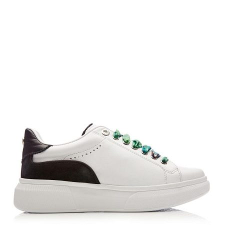 Casual Shoes And Trainers | Moda in Pelle Womens Britia White Black Leather White