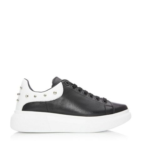 Casual Shoes And Trainers   Moda in Pelle Womens Briton Black Leather Black