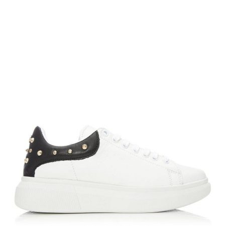 Casual Shoes And Trainers   Moda in Pelle Womens Briton White Leather White