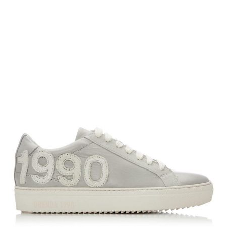 Casual Shoes And Trainers | Moda in Pelle Womens Brooklynn Light Grey Leather Light