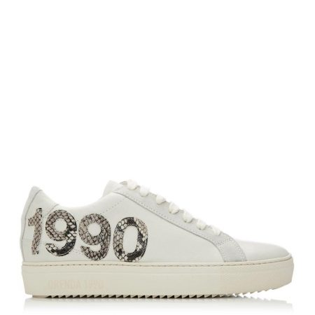 Casual Shoes And Trainers | Moda in Pelle Womens Brooklynn Off White Leather Off