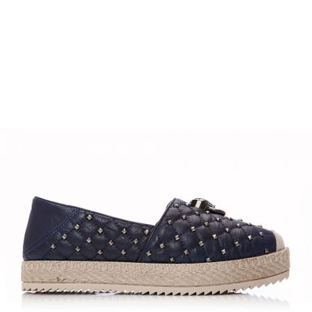 Casual Shoes And Trainers | Moda in Pelle Womens Ereelia Navy Leather Navy
