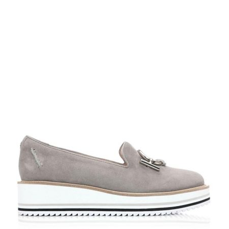 Casual Shoes And Trainers | Moda in Pelle Womens Erisian Grey Leather Grey