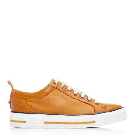 Casual Shoes And Trainers | Moda in Pelle Womens Feratsia Mustard Leather Mustard