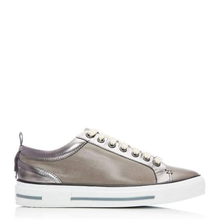 Casual Shoes And Trainers | Moda in Pelle Womens Feratsia Pewter Leather Pewter
