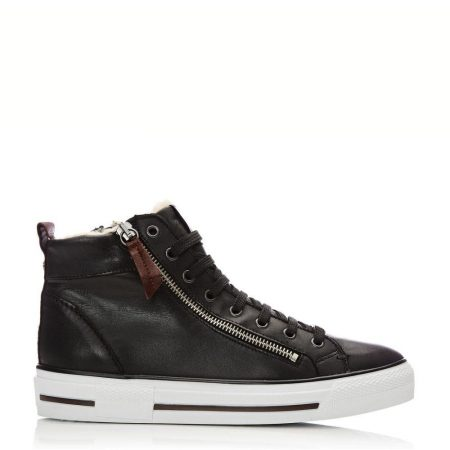 Casual Shoes And Trainers | Moda in Pelle Womens Ferenzi Black Leather Black