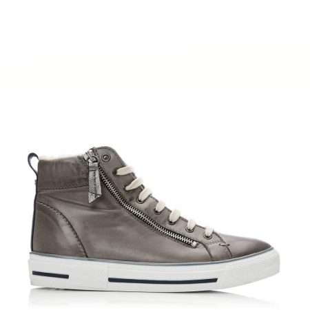 Casual Shoes And Trainers | Moda in Pelle Womens Ferenzi Grey Leather Grey