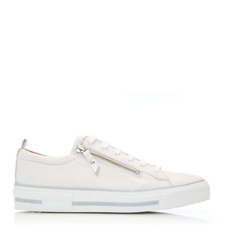Casual Shoes And Trainers | Moda in Pelle Womens Filicia White Leather White