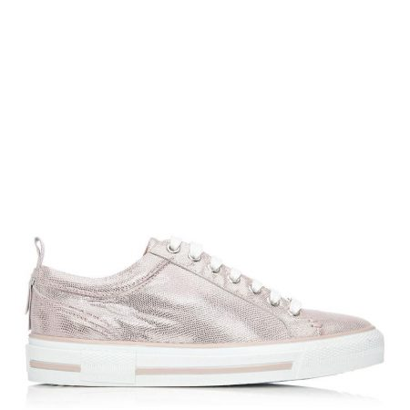 Casual Shoes And Trainers   Moda in Pelle Womens Fizette Rose Gold Metallic Leather Rose