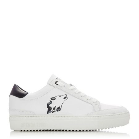 Casual Shoes And Trainers   Moda in Pelle Womens Lagos White – Grey Leather White