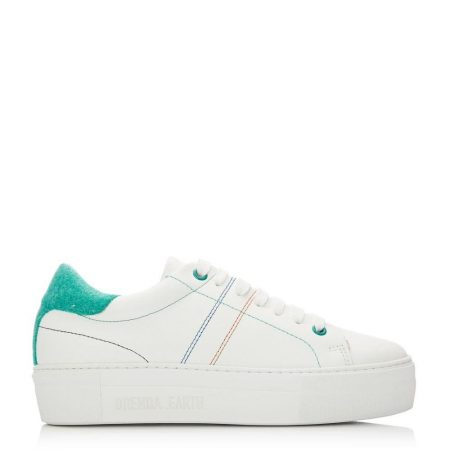 Casual Shoes And Trainers   Moda in Pelle Womens Manchester White-Green Leather White-Green