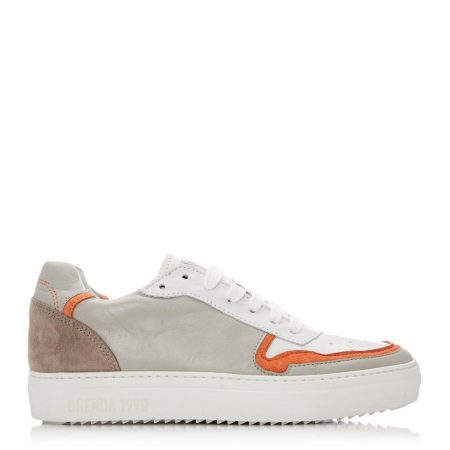 Casual Shoes And Trainers | Moda in Pelle Womens Ohio Light Grey Leather Light