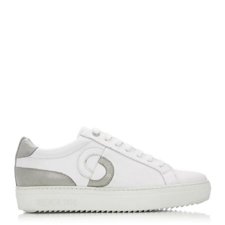 Casual Shoes And Trainers   Moda in Pelle Womens Portland White – Grey Leather White