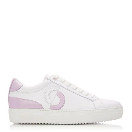 Casual Shoes And Trainers | Moda in Pelle Womens Portland White – Lilac Leather White