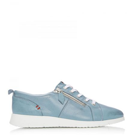 Casual Shoes And Trainers | Moda in Pelle Womens Sh Alexandra Light Blue Leather Alexandra