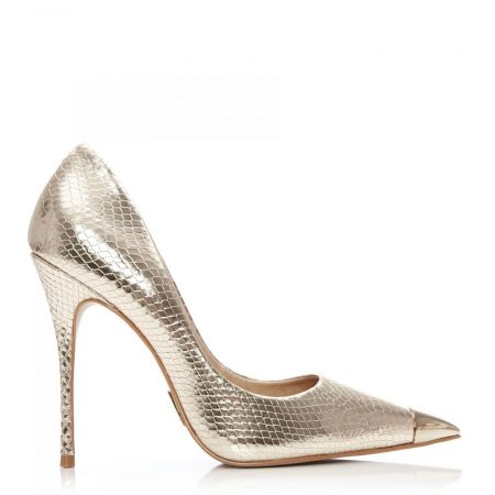 Court Shoes | Moda in Pelle Womens Cerelia Gold Snake Print Gold