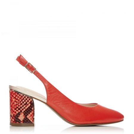 Court Shoes | Moda in Pelle Womens Chinelle Red Leather Red