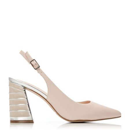 Court Shoes   Moda in Pelle Womens Dinella Nude Leather Nude