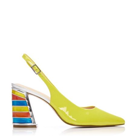Court Shoes | Moda in Pelle Womens Dinella Yellow Patent Leather Yellow