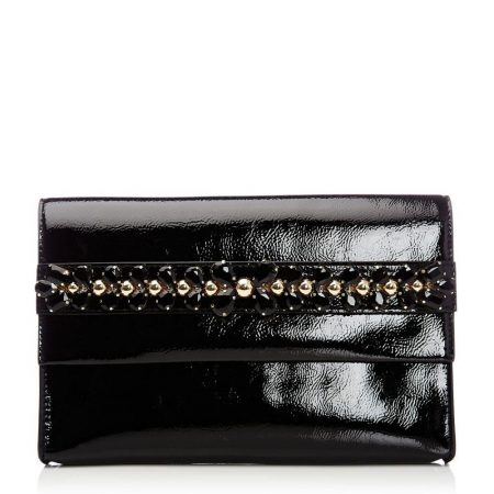 Evening And Clutch Bags | Moda in Pelle Womens Cillaniaclutch Black Patent Black