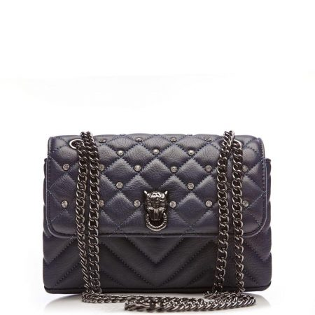 Evening And Clutch Bags | Moda in Pelle Womens Jennaminiquilt Navy Porvair Navy